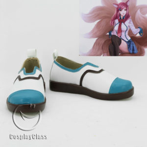 cw11816 LOL League of Legends Ahri the Nine Tailed Fox Cosplay Shoes (1)