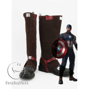 cw11819 Avengers Age of Ultron Captain America Steven Rogers Steve Rogers Cosplay Boots (1)