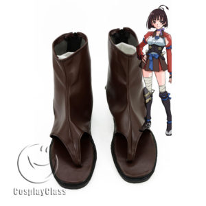 cw11854 Kabaneri of the Iron Fortress Mumei Cosplay Shoes (1)