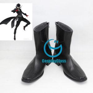 cw11880 Persona 5 P5 Joker Kurusu Akira Cosplay Shoes (3)