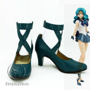 cw11895 Sailor Moon Kaiou Michiru Cosplay Shoes (1)