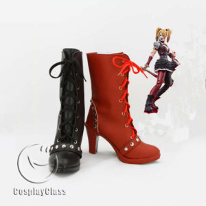 cw11902 Batman Arkham Knight Harley Quinn Harleen Quinzel Cosplay Shoes (1)