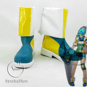 cw11907 League of Legends LOL Riven the Exile Cosplay Shoes (1)