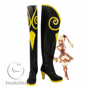 cw11950 Fairy Tail Lucy Heartfilia Cosplay Boots (1)
