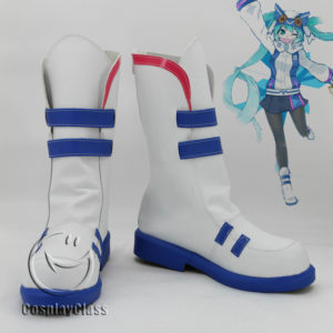 cw11961 Snow Miku 2016 White Yuki Miku Cosplay Boots (1)