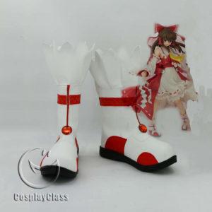 cw11964 TouHou Project CuriositiesofLotusAsia Hakurei Reimu Cosplay Shoes (1)