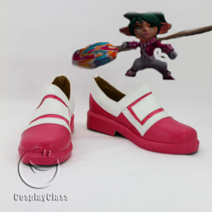 cw11973 League of Legends LOL Poppy Keeper of the Hammer Cosplay Shoes (1)