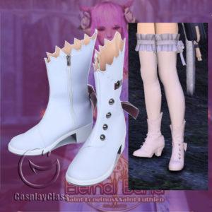 cw11979 Final Fantasy XIV FF14 Wedding Female Cosplay Shoes (1)