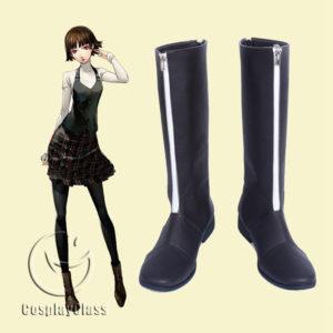 cw11986 Persona 5 Niijima Makoto Queen Cosplay Boots (1)