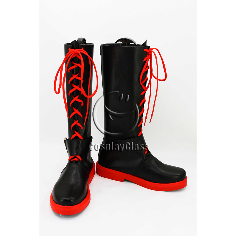 RWBY Ruby Rose Black Cosplay Boots