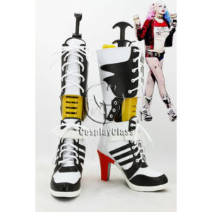 cw12063 DC Comics Suicide Squad Harleen Quinzel Harley Quinn Cosplay Boots (1)
