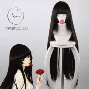 cw12083 Hell Girl Jigoku Shoujo Enma Ai Cosplay Wig (1)
