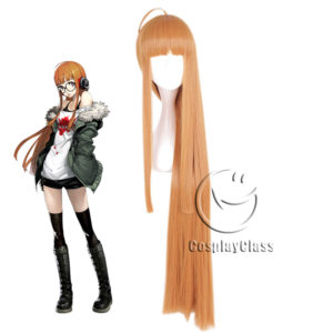 cw12087 Persona 5 P5 Sakura Futaba NAVI Cosplay Wig (1)