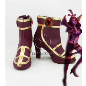 cw12147 League of Legends LOL LeBlanc the Deceiver Cosplay Shoes (1)