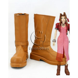 cw12151 Final Fantasy VII FF7 Aerith Cosplay Shoes (1)