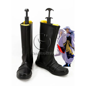 cw12180 Inuyasha Sesshoumaru Cosplay Boots (1)
