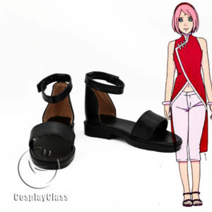 cw12194 BORUTO NARUTO THE MOVIE Haruno Sakura Cosplay Shoes (1)