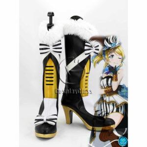 cw12207 Lovelive! Eli Ayase Ellie Zebra Cosplay Boots (1)