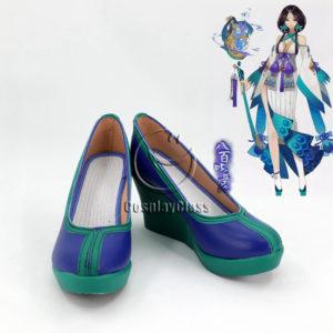 cw12215 Onmyoji Yin and Yang Master Yao Bikuni Kimono Cosplay Shoes (1)
