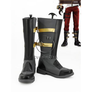 cw12216 God Eater 2 Protagonist Dark Grey Shoes Cosplay Boots (1)