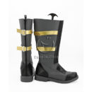 cw12216 God Eater 2 Protagonist Dark Grey Shoes Cosplay Boots (4)