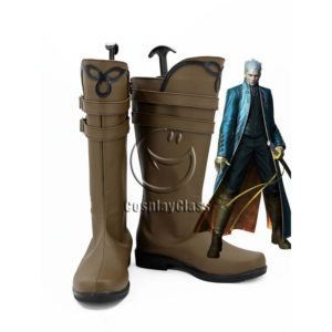 cw12225 Devil May Cry DMC Vergil Cosplay Boots (1)