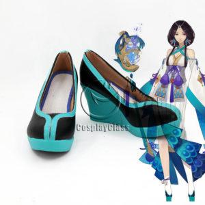 cw12242 Onmyoji Yin and Yang Master Yao Bikuni Kimono Cosplay Shoes (1)
