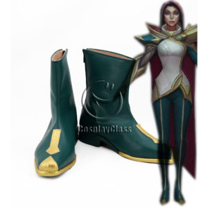 cw12254 League of Legends LOL Fiora Laurent The Grand Duelist Cosplay Shoes (1)
