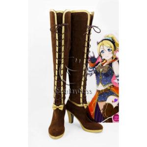 cw12275 LoveLive! Eli Ayase Ellie Maki Nishikino Halloween Awakening Cosplay Boots (1)