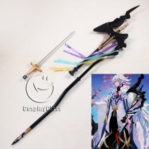 cw12290 Fate Grand Order Caster Merlin Staves Cosplay Weapon Prop (1)