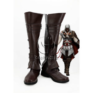 cw12308 Assassin's Creed Ezio Auditore Cosplay Boots (1)