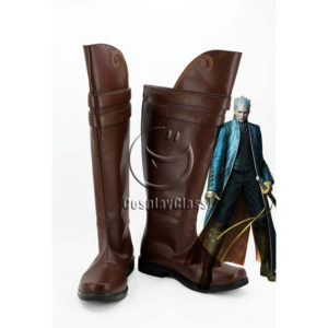 cw12337 Devil May Cry Vergil Gilver Cosplay Boots (1)