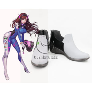 cw12356 Overwatch OW D.Va Hana Song DVa Cosplay Shoes (1)