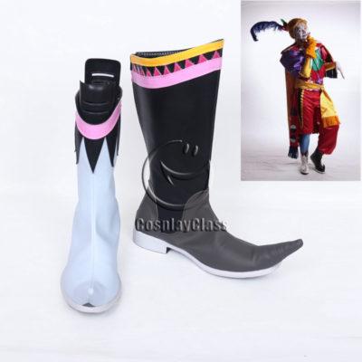 cw12408 Final Fantasy Kefka Palazzo Clown Cosplay Boots (1)
