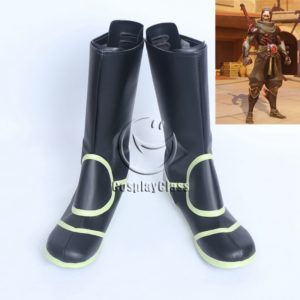 cw12413 Overwatch Genji Cosplay Boots (New) (2)