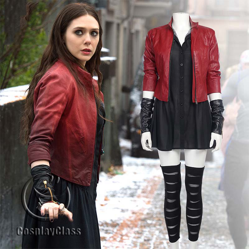 cos11409 marvel avengersage of ultron wanda django maximoff scarlet witch cosplay costume
