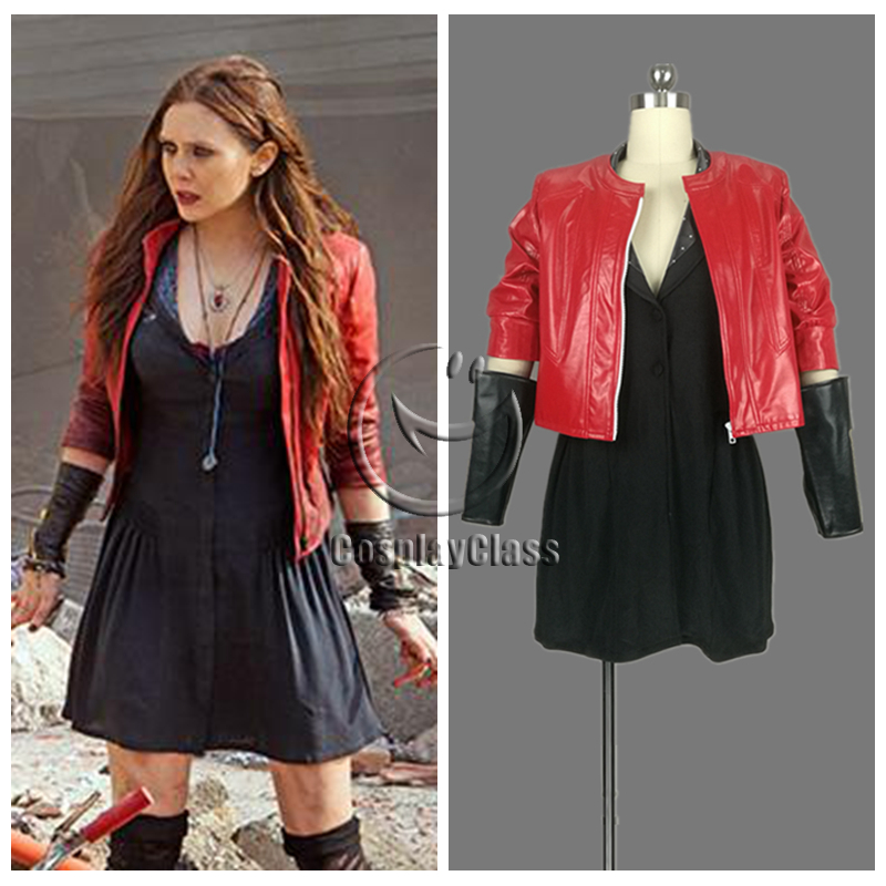 cos11548 marvel comics superhero scarlet witch wanda django maximoff cosplay costume