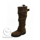 cw12840 Game of Thrones Season 7 Daenerys Targaryen Brown Cosplay Boots (2)