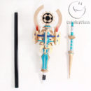 cw13036 DISSIDIA FINAL FANTASY NT Materia Cane Cosplay Weapon Props (3)