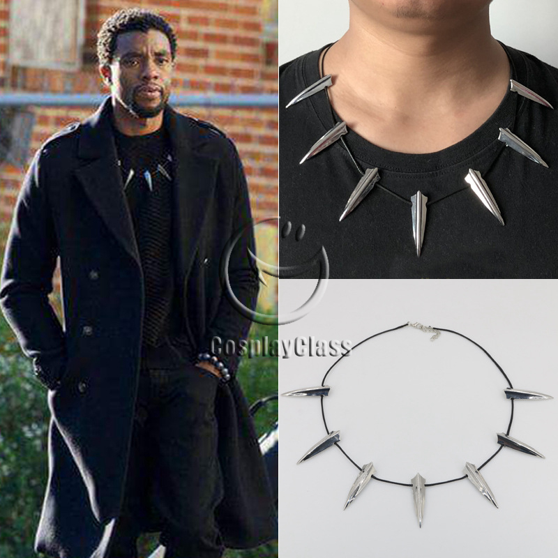 Marvel Black Panther 2018 Movie T'Challa Necklace Cosplay