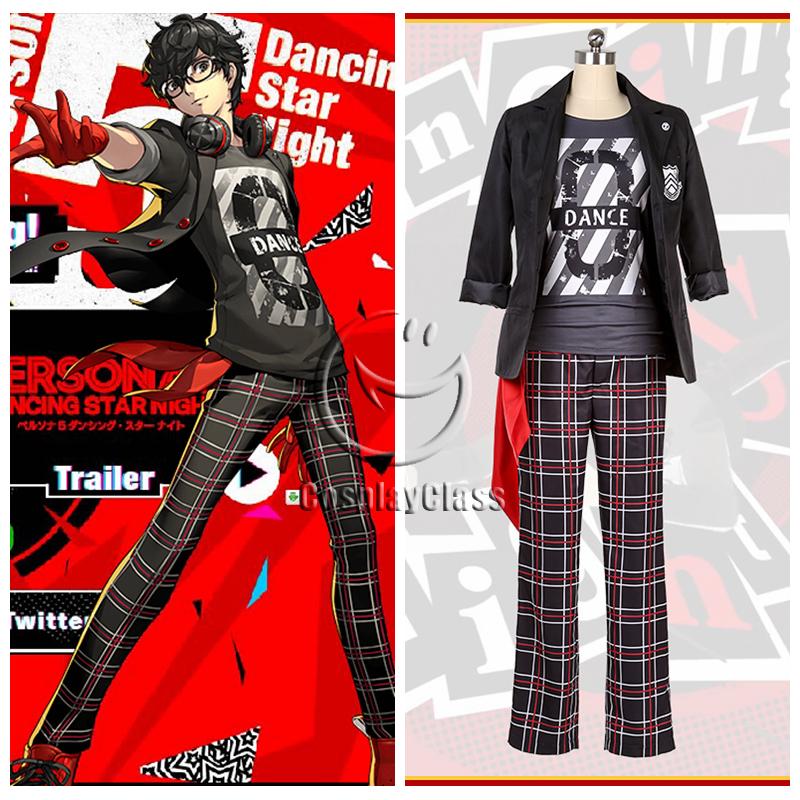 Persona 5 P5 Dancing Star Night Joker Amamiya Ren Kurusu Akira Cosplay Costume