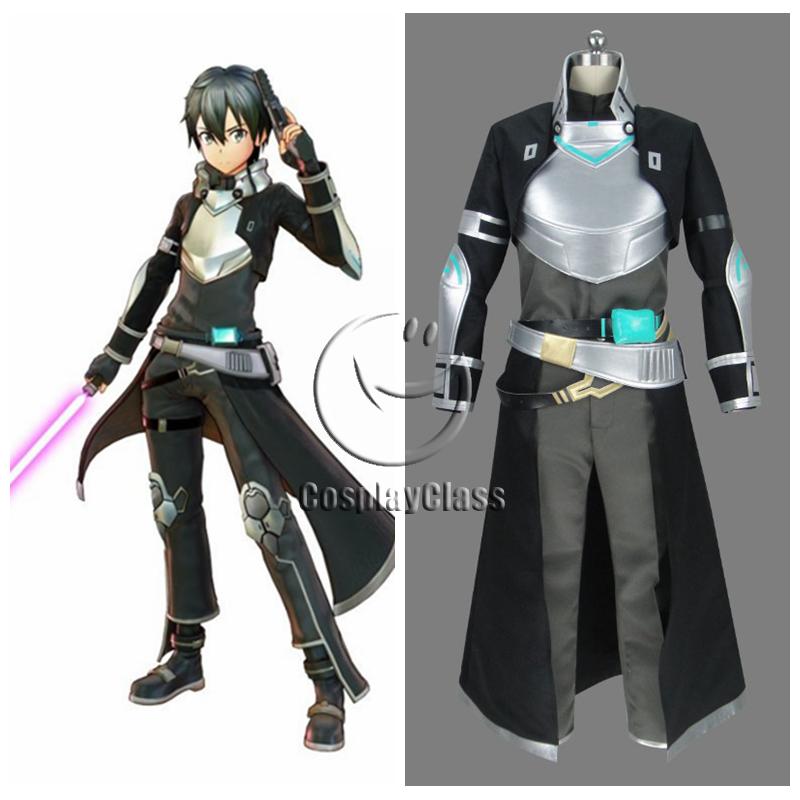 83ba5d715cb7 Sword Art Online Fatal Bullet Kirito Kirigaya Kazuto Cosplay Costume