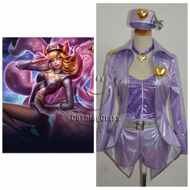 League of Legends LOL Ahri the Nine-Tailed Fox Singer Cosplay Costume
