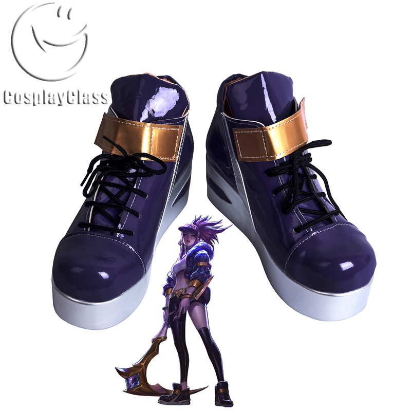 League of Legends LOL K/DA Akali The Rogue Assassin KDA Cosplay Shoes