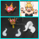 New Super Mario Bros U Deluxe Bowsette Cosplay Accessories cw13739 (7)