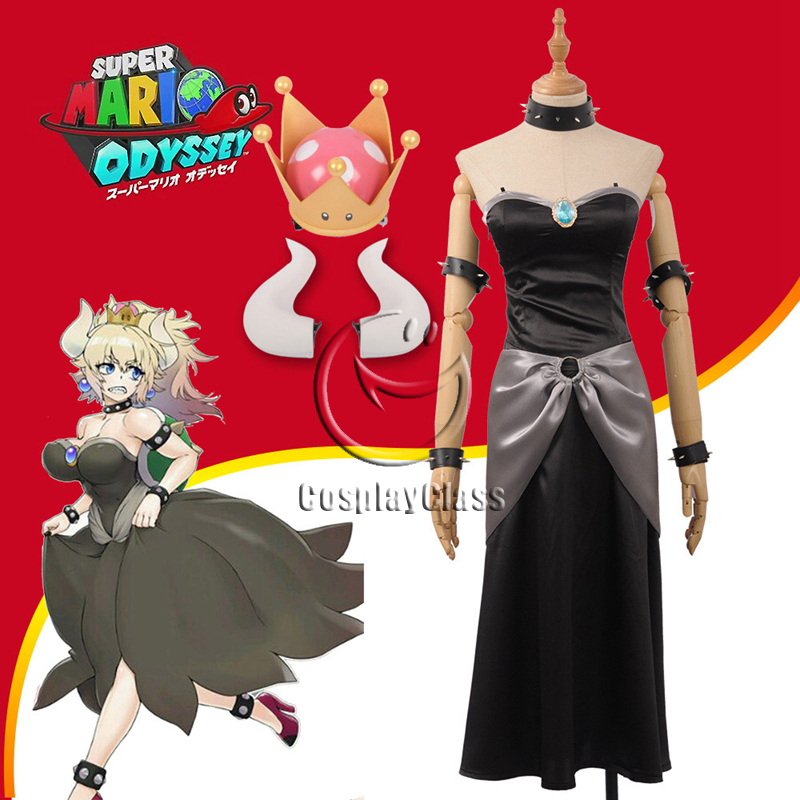 New Super Mario Bros U Deluxe Bowsette Cosplay Costume (New)