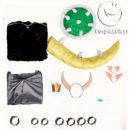 New Super Mario Bros U Deluxe Bowsette Cosplay Costume cos12246 (14)