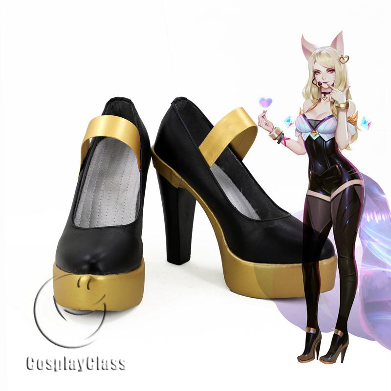 League of Legends LOL K/DA Ahri the Nine-Tailed Fox KDA Cosplay Shoes  (New-1)