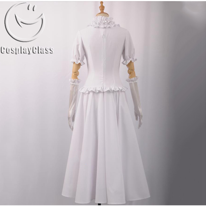 New Super Mario Bros U Deluxe Bowsette White Cosplay Costume