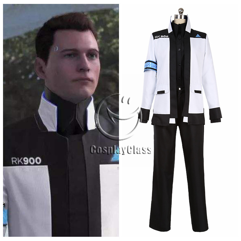 Detroit Become Human Connor White Rk900 Cosplay Costume Cosplayclass